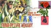 Year of the Monkey Lunar New Year Green Therome Cachet