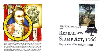 Repeal of the Stamp Act 5/29/16 Panda Cachet R/C