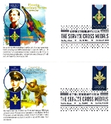 Service Cross Medals Panda Cachet 5/30/16 Set of 4