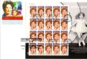 Shirley Temple Legends Hollywood Panda Cachet 4/18/16 Full Sheet