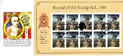 Repeal of the Stamp Act Panda Cachet Full Sheet R/C