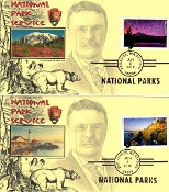 National Parks Therome Cachet Set of 16 Singles R/C