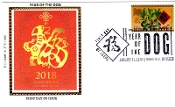 Year of the Dog Colorano Silk Cachet FDC R/C
