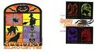 Spooky Silhouettes Panda Cachets 4-Stamp Combo FDC DCP